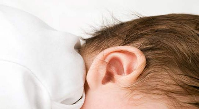 closeup of baby's ear